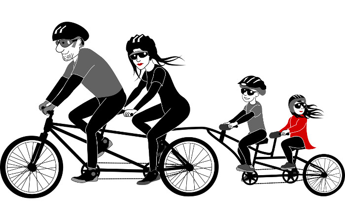 okulary rowerowe rodzina